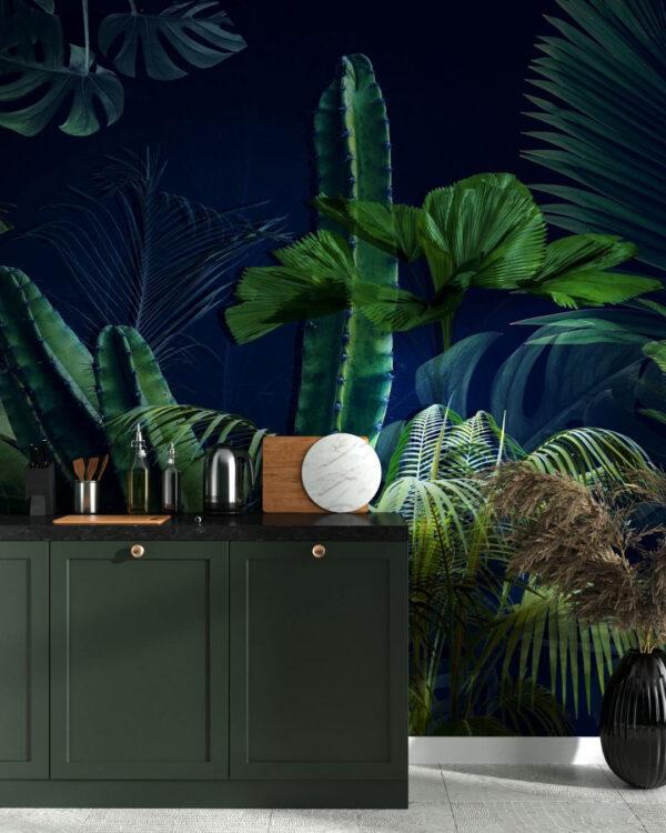 Fototapety Foliage Navy Blue | fototapeta do kuchni