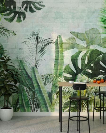Fototapety Foliage Brick Wall | fototapeta do kuchni
