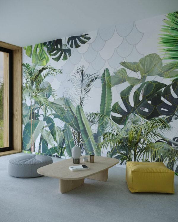 Fototapety Foliage Hemicycle | tapeta 3d kwiaty