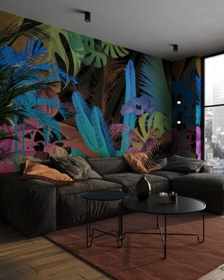 Fototapety Foliage Motley | tapety 3d do salonu