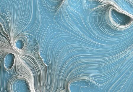 Fototapety Strutturato Quilling Bright niebieski przykład | tapety 3d