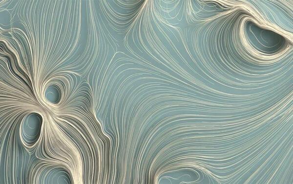 Fototapety Strutturato Quilling Bright turkusowe odcienie | tapety 3d