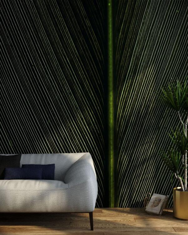 Fototapety Strutturato Green Leaf | tapety 3d do salonu