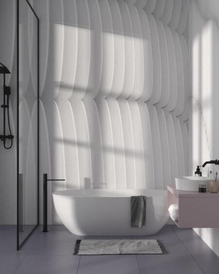 Fototapety Strutturato Wooden Waves | tapety 3d do łazienki