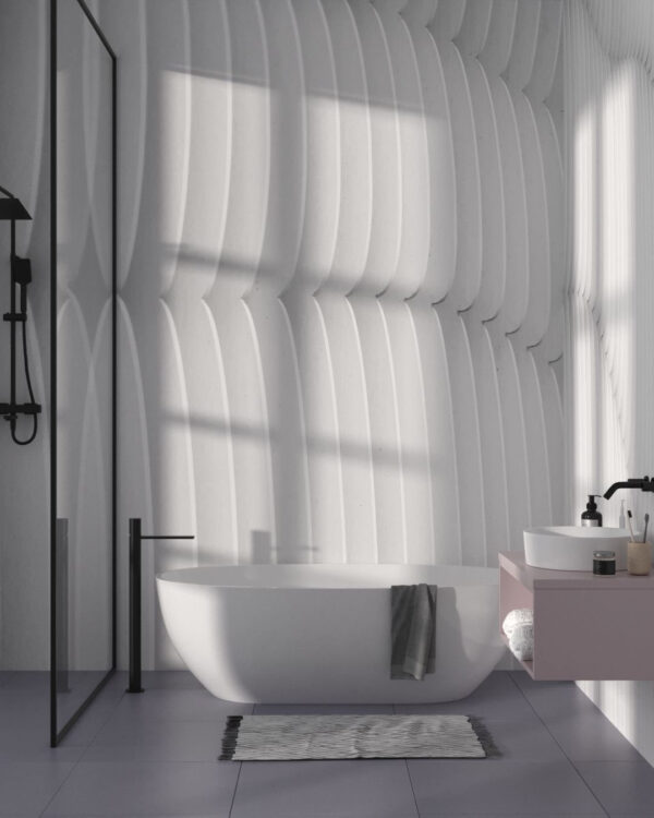 Fototapety Strutturato Wooden Waves   tapety 3d do łazienki