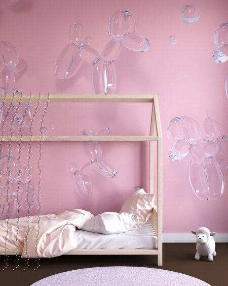 Fototapety Balloon Dogs Pink | fototapeta do pokoju dziecka