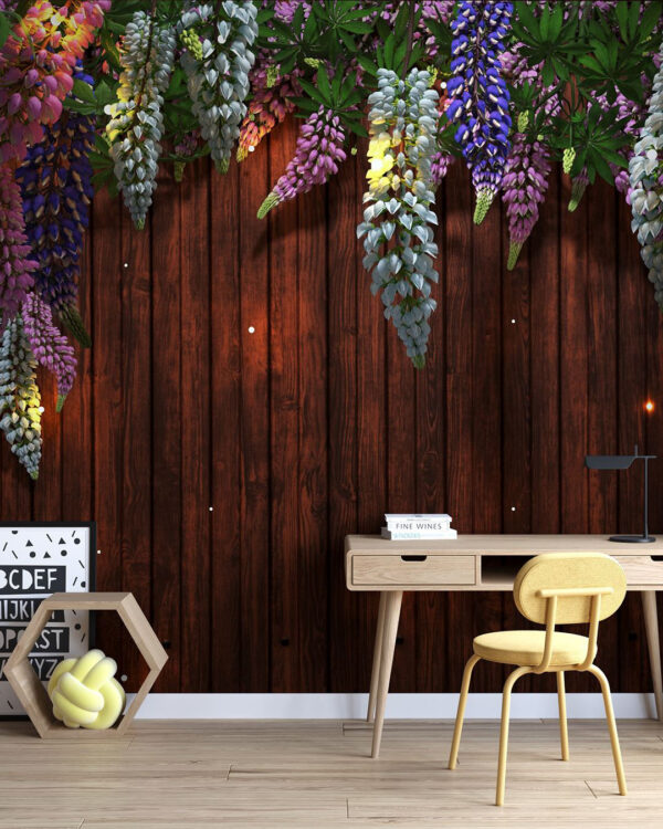Fototapety Lupin Sunlight Brown Tree Bloom | fototapeta do biura