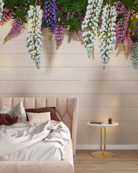 Fototapety Lupin Sunlight White Tree Bloom | fototapeta 3d do sypialni