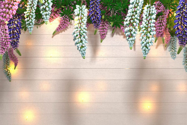 Fototapety Lupin Sunlight White Tree Bloom tablic świetlnych | fototapeta 3d