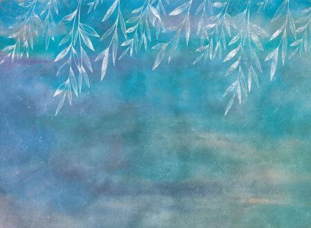 Fototapety Textured Autumn niebieskie odcienie | Fototapeta Kwiaty