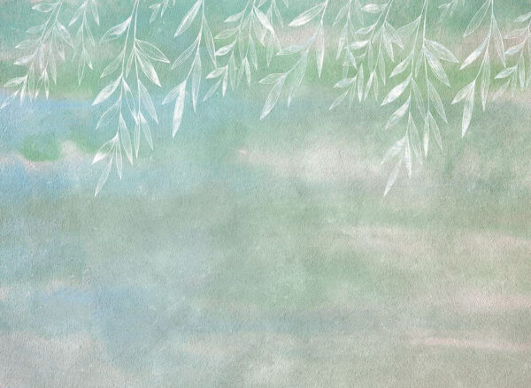 Fototapety Textured Autumn zielone odcienie| fototapeta 3d do kuchni