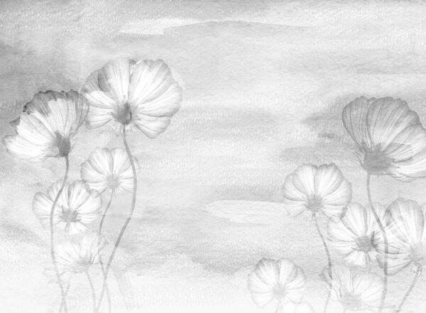 Fototapety Textured Romance szary odcień   fototapeta kwiaty