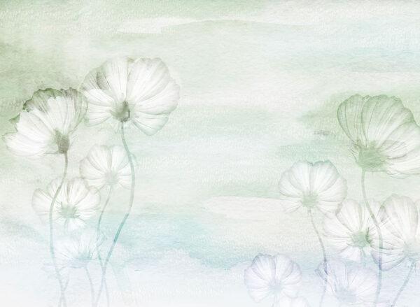 Fototapety Textured Romance zielony odcień   fototapeta kwiaty