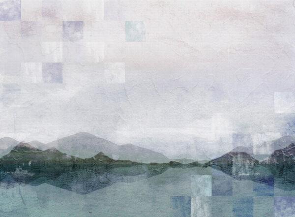 Fototapety Textured Watercolor Nature z elementami mozaiki | tapety 3d do salonu