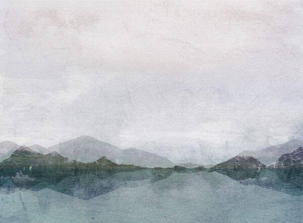 Fototapety Textured Watercolor Nature turkusowe odcienie | tapety 3d do salonu