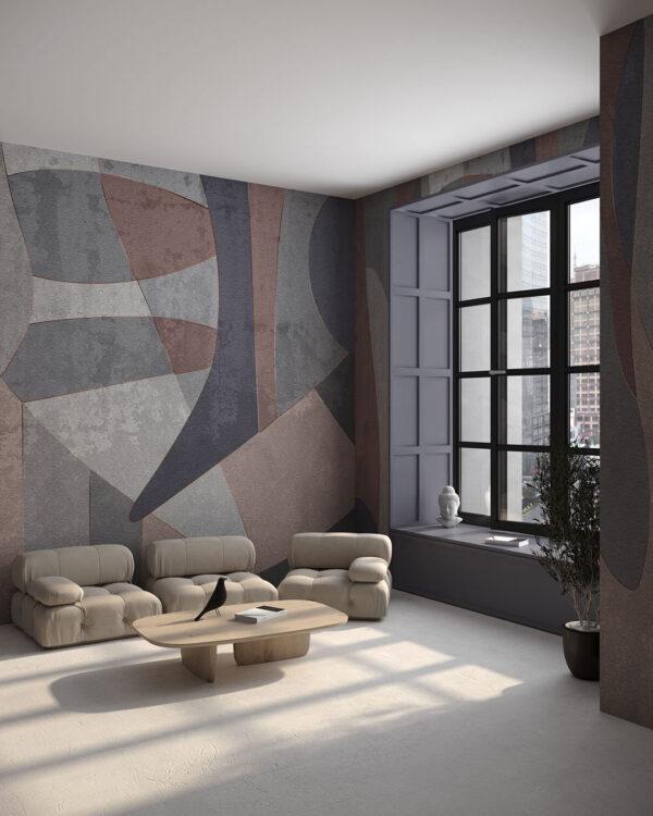 Nowoczesne Fototapety Geometry Surface | tapety 3d do salonu