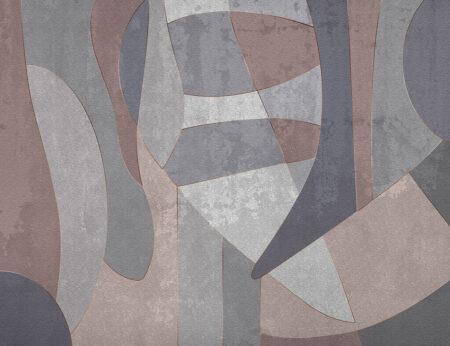 Fototapety Geometry Surface szare odcienie | tapety 3d