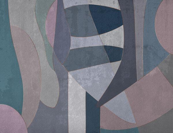 Fototapety Geometry Surface zielone odcienie | tapety 3d