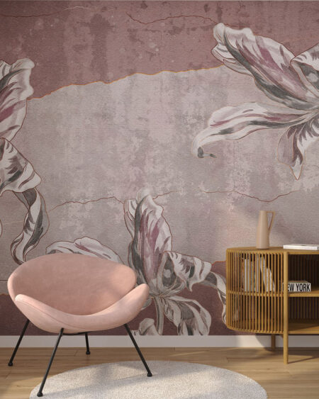 Fototapety Tulip Touch | tapety 3d do salonu