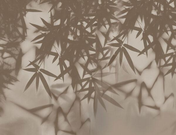 Fototapeta Liście Palmowe brązowe odcienie | fototapeta kwiaty