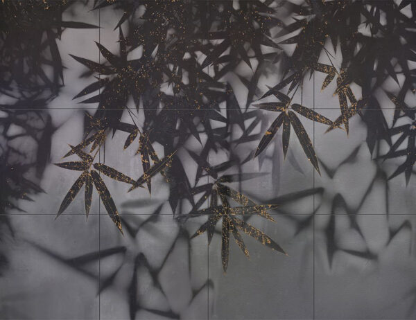 Fototapety Looming Dark ciemne odcienie ze złotem w sieci | fototapeta kwiaty