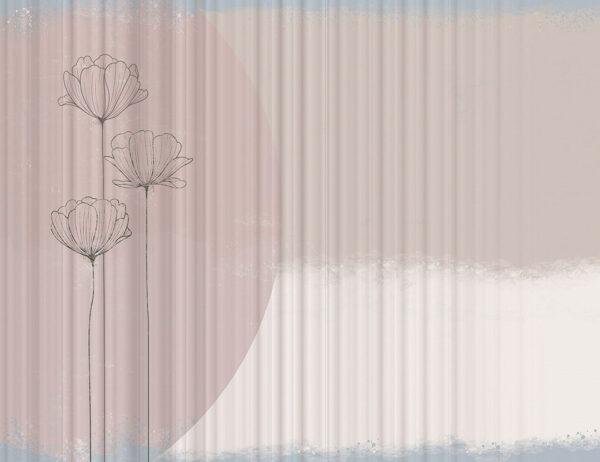 Fototapeta Pastelowe Kwiaty przykład w kolejce | fototapeta w kwiaty