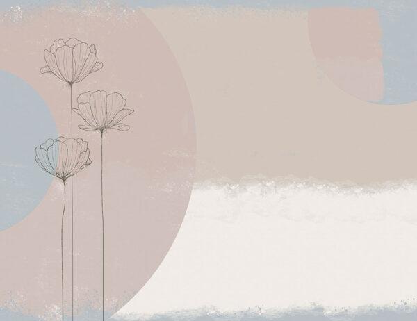 fototapeta kwiaty Bliss Blue gładki przykład | tapety w kwiaty 3d