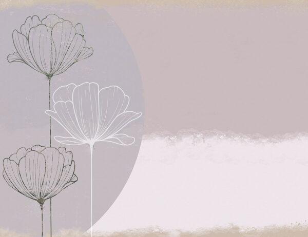 Fototapety Bliss Trio gładki przykład | tapety 3d do sypialni
