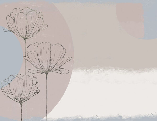 Fototapety Bliss Pastel gładki kolor z niebieskim kółkiem | tapety do sypialni 3d