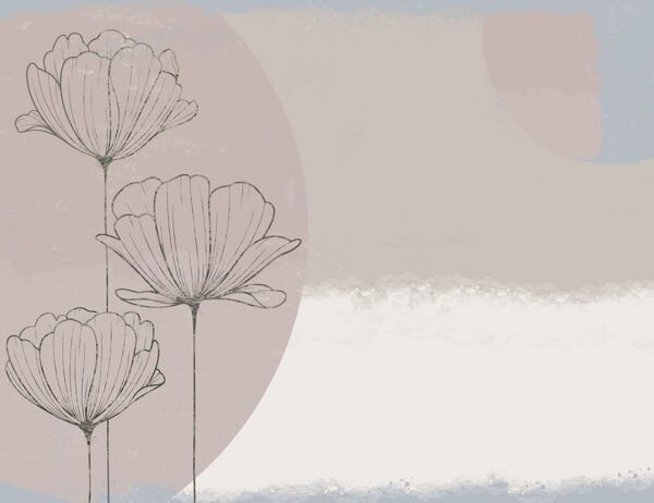 Fototapety Bliss Pastel gładki kolor | tapety do sypialni 3d