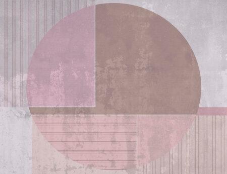 Fototapety Circle różowe odcienie | tapety 3d