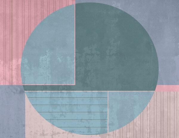 Fototapety Circle niebieskie kolory | tapety 3d