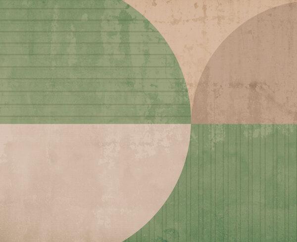 Fototapety Curiosite zielony i cielisty odcień | tapety 3d do salonu