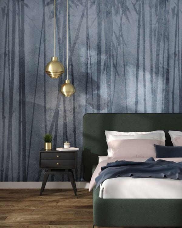 Fototapety Behind Winter zielone odcienie | tapeta 3d sypialnia