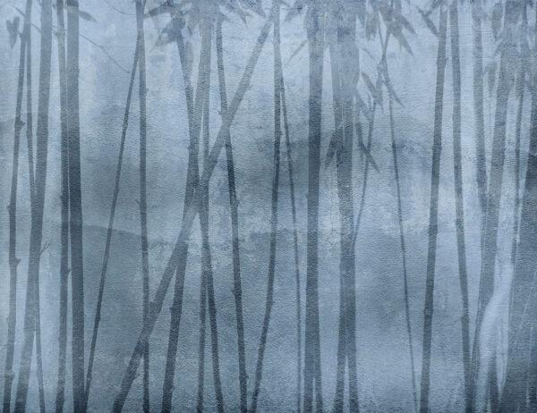 Fototapety Behind Winter niebieskie odcienie | tapeta 3d sypialnia