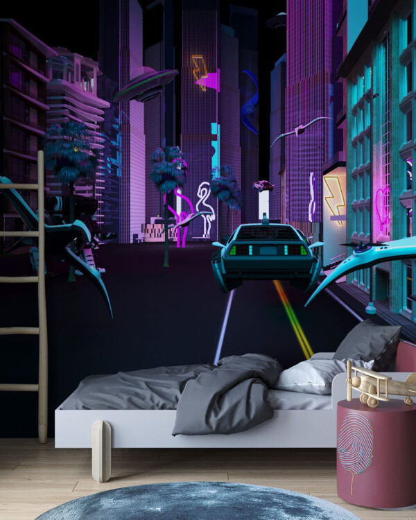 Fototapety Neon   tapety 3d do sypialni