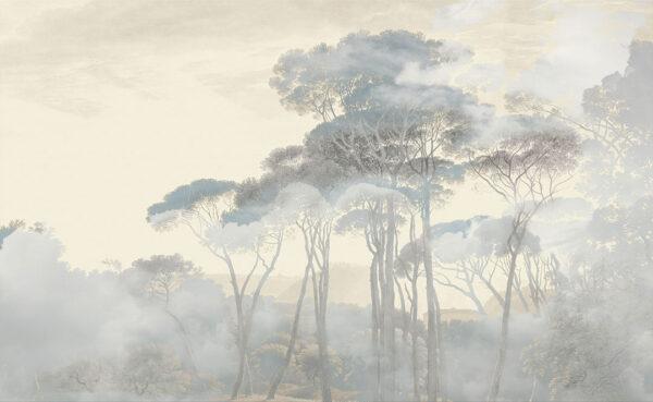 Fototapety Armonia of the Sunrise zielone odcienie | tapeta las