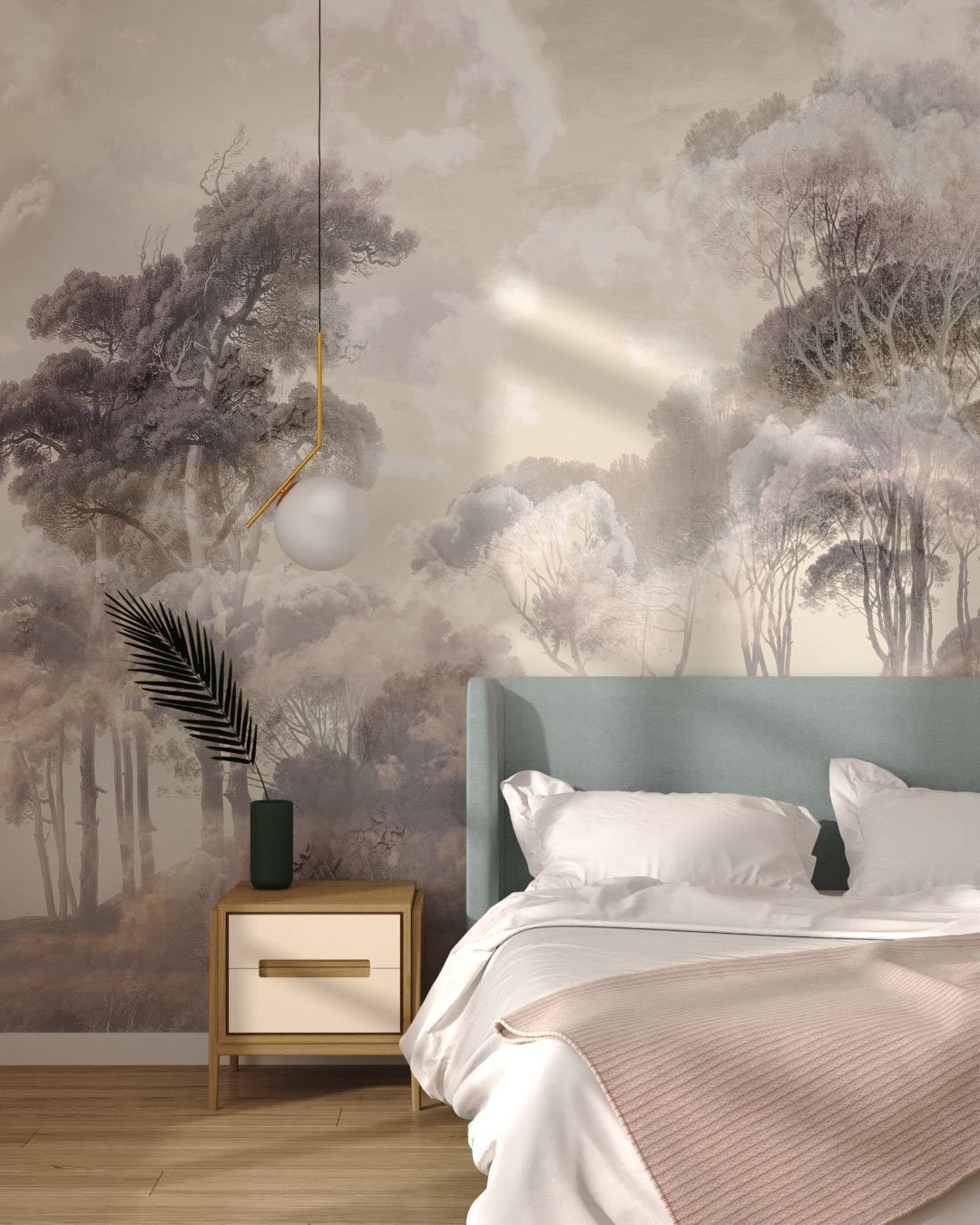Fototapeta Zachód Słońca Las Armonia | tapety 3d do sypialni