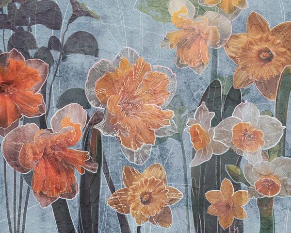 Fototapety Narcissus jasnoniebieski odcień | fototapeta kwiaty