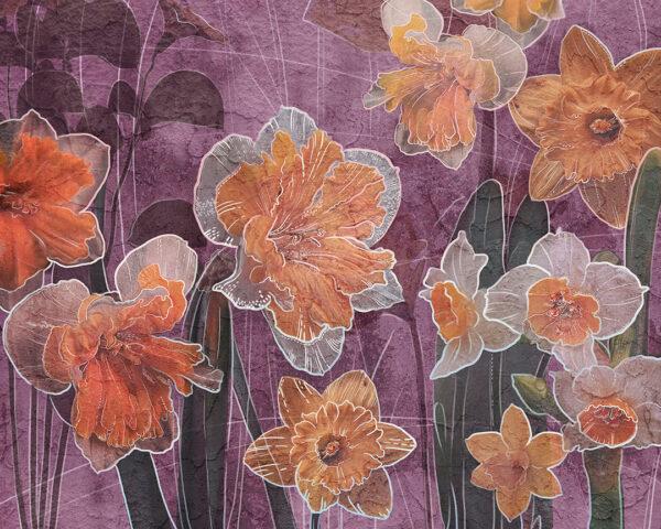 Fototapety Narcissus różowy odcień | fototapeta kwiaty