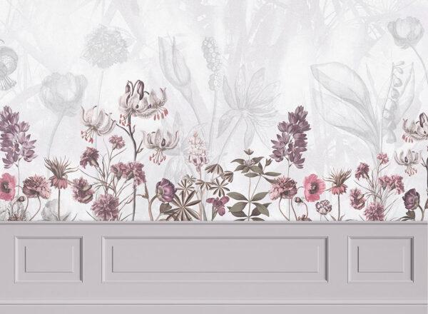 Fototapety Garden Panels szare odcienie | tapety 3d do sypialni