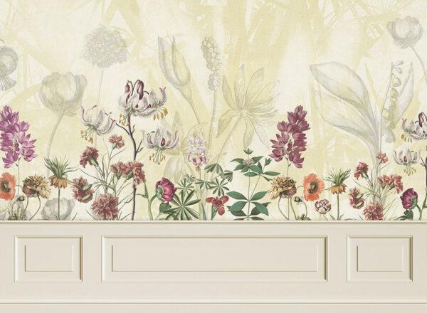 Fototapety Garden Panels żółte odcienie | tapety 3d do sypialni