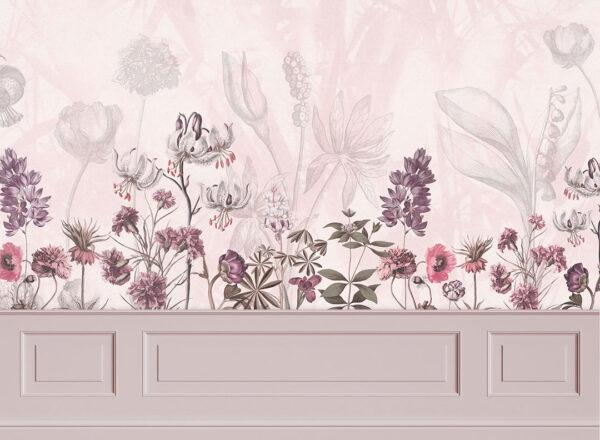 Fototapety Garden Panels różowe odcienie | tapety 3d do sypialni