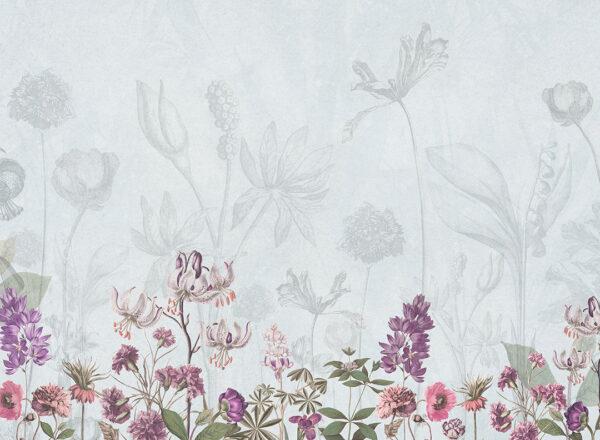 Fototapety Garden szary odcień | fototapeta kwiaty