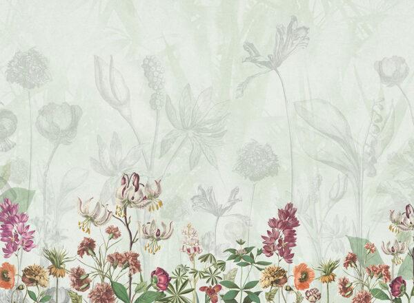 Fototapety Garden zielony odcień | fototapeta kwiaty