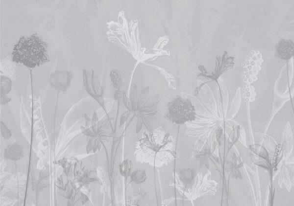 Fototapety Secret Garden szare odcienie   tapety 3d do sypialni