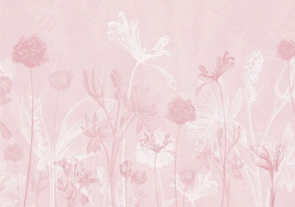 Fototapety Secret Garden różowe odcienie   tapety 3d do sypialni