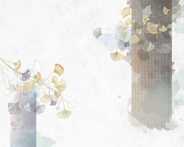 Fototapety Nouveau białe odcienie | tapety 3d