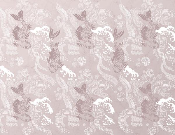 Fototapety Koi różowe odcienie | tapety 3d do salonu