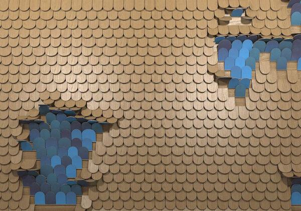 Fototapety Sequin złoty z niebieskim | fototapeta do kuchni